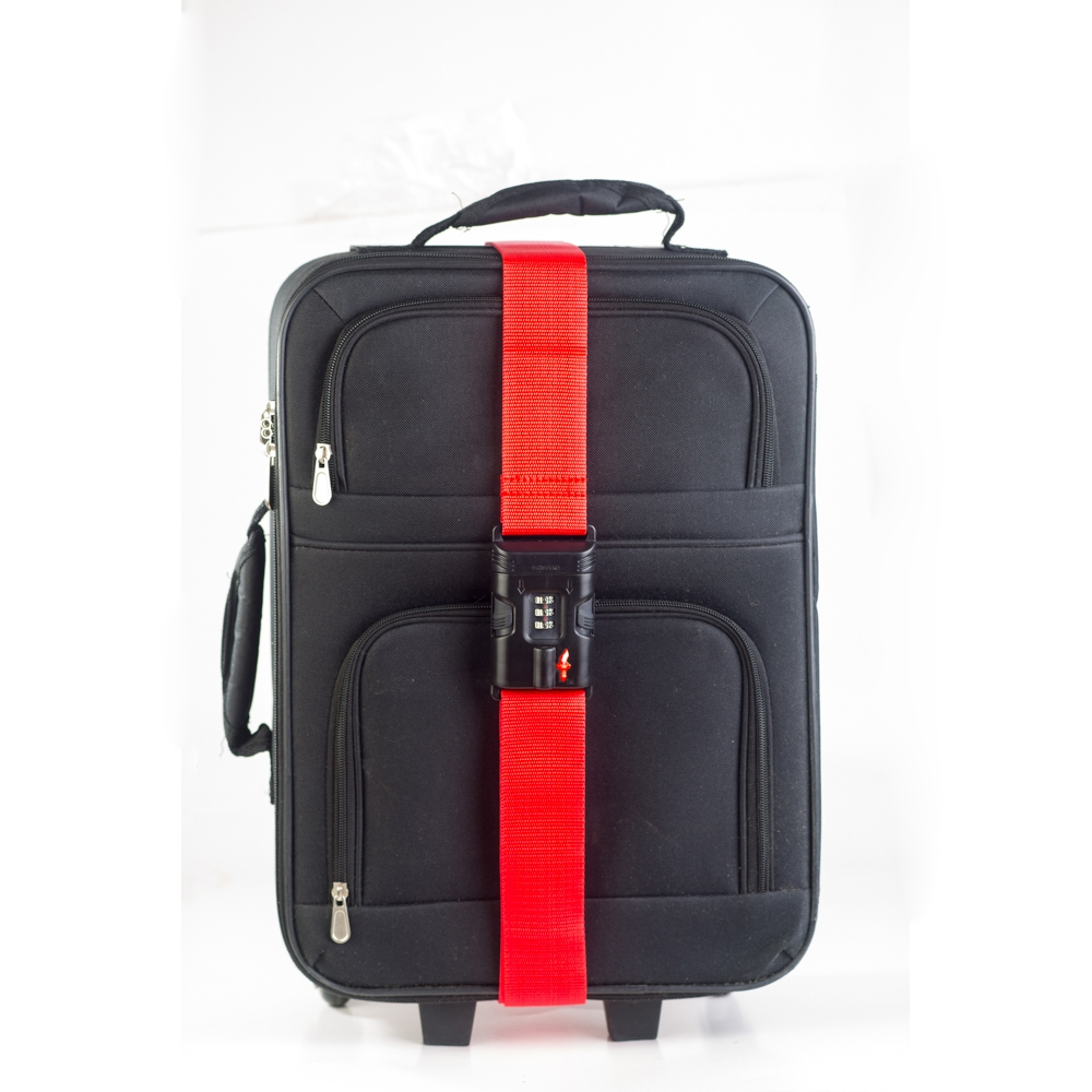e821bfbcca31 TSA Accepted Luggage Strap - Red, Safe Skies TSA Locks
