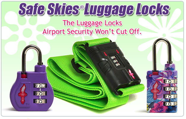 Safe Skies Luggage Locks. The Luggage Locks Airport Security Won't Cut Off.
